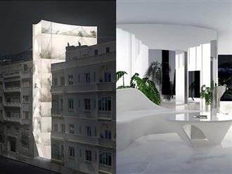 """Ấn tượng với ngôi nhà được bao phủ bởi một lớp kính mờ """"nửa kín nửa hở"""" vô cùng độc đáo"""