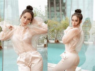 Angela Phương Trinh mặc áo trong suốt khoe đường cong cơ thể