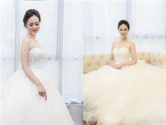 Bạn gái xinh đẹp của Công Lý gây bất ngờ khi đi thử trang phục cưới