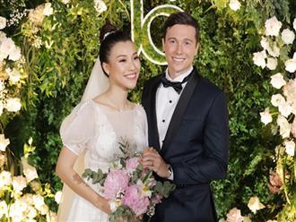 """Bằng chứng Hoàng Oanh và chồng Tây """"cưới chạy bầu"""""""