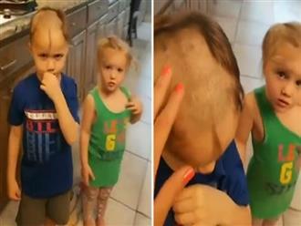 Anh em nghịch ngợm lấy tông đơ cạo tóc nhau, người mẹ bật khóc còn dân tình cười 'rớt hàm' khi xem kết quả