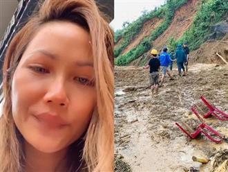 Bị chỉ trích đến bật khóc khi làm từ thiện, H'Hen Niê vẫn quyết ra miền Trung cứu trợ bà con bị sạt lở đất