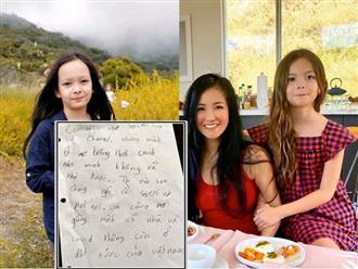 Bị kẹt ở Mỹ, con gái Hồng Nhung viết thư tay bày tỏ nỗi nhớ Việt Nam, dù sai chính tả nhưng đong đầy tình cảm