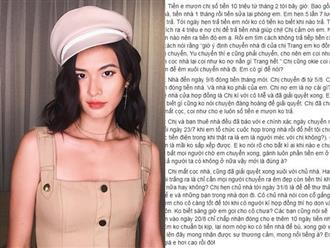Bị tố quỵt tiền nhà, Cao Thiên Trang khẳng định đã thu nhận chứng cứ để khởi kiện