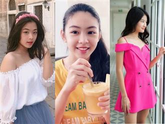 """""""Bình rượu mơ"""" của sao Việt: Mới 15 tuổi đã cao tới 1m70, dáng chuẩn hoa hậu tương lai nhưng bất ngờ nhất là phong cách thời trang"""