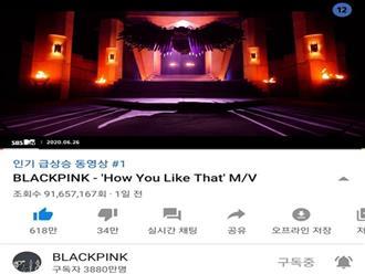"""BLACKPINK vừa lập kỉ lục view thế giới với """"How You Like That"""" thì lập tức bị YouTube trừ view thẳng tay, may là con số này không nhiều như BTS"""
