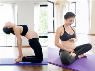 Bụng bầu vượt mặt, Nguyệt Ánh vẫn khiến chị em thán phục khi khoe động tác yoga điêu luyện