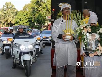 Cận cảnh dàn xe phân khối lớn dẫn đầu đoàn xe tang đưa nghệ sĩ Lê Bình về nơi an nghỉ