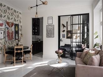 Căn hộ rộng 73m² sáng bừng với tông màu hồng phấn ngọt ngào đan xen nét cổ điển đặc trưng
