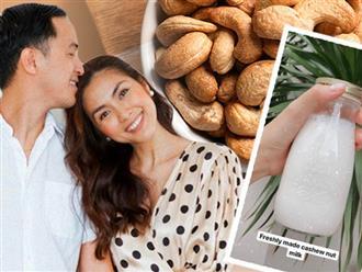"""""""Chân ái"""" của Hà Tăng dạo gần đây chính là thứ nước màu trắng này, nguyên liệu quen thuộc nhưng tận dụng để giảm cân và chống ung thư đều tốt"""
