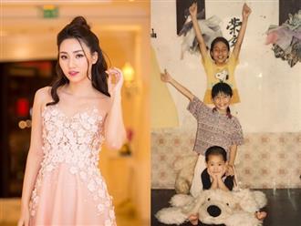 Chị em Á hậu Thanh Tú - Trà My lộ ảnh thuở bé siêu đáng yêu