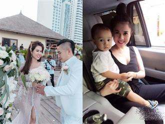 Vài ngày sau đám cưới, chị gái Ngọc Trinh nghẹn ngào trước cách con trai đối xử với cha dượng