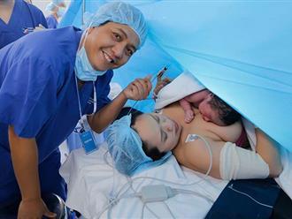 Chồng Thanh Thúy vào tận phòng sinh, chứng kiến vợ vượt cạn