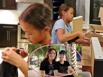Vợ xa nhà, chồng Việt Hương khoe con gái đảm đang, bày cách xử lý nếu chồng tương lai 'cà chớn'