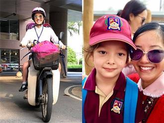 Vội vã đưa con đi học sau Tết, mẹ con Hồng Nhung gặp 'tai nạn' khó đỡ