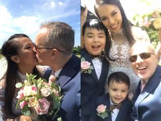 Clip Thanh Thảo diện áo cưới lộng lẫy hôn chồng Tây nồng cháy trong hôn lễ 'đốn tim' dân mạng