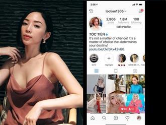 Có nhiều 'nguy hiểm rình rập', Tóc Tiên tạm dừng sử dụng facebook chuyển qua Instagram