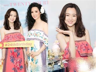 Con gái Giáng My rạng rỡ như Hoa hậu trong tiệc sinh nhật tuổi 24
