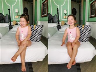 """Con gái siêu mẫu Hà Anh vượt mặt mẹ, """"kiếm"""" chục nghìn like trên mạng xã hội chỉ bằng hình ảnh ngồi vắt chân cười rạng rỡ"""