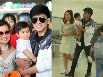 Ra tận sân bay đón vợ và con trai về nước, anh Bo Đan Trường khiến fan thích thú vì quý tử đẹp trai vượt mặt bố