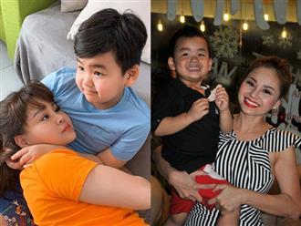 Khoe ảnh bên con trai út 7 tuổi, Lê Giang được khen nuôi con khéo