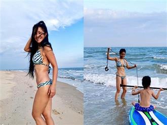 Cuộc sống của Hồng Nhung sau ly hôn: Vui sống bên hai con, chăm khoe thân táo bạo với bikini