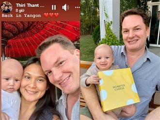 Nữ đại gia Myanmar đăng ảnh chứng minh cuộc sống hạnh phúc, viên mãn bên chồng cũ Hồng Nhung