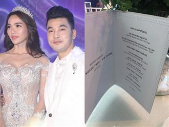 Đám cưới lung linh như cổ tích, menu tiệc cưới của Ưng Hoàng Phúc cũng thượng đỉnh