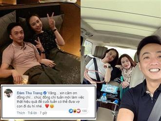 Vừa lộ bụng lớn bất thường, Đàm Thu Trang đã ngầm báo tin mang thai con của Cường Đô la?