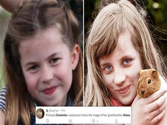 Dân mạng thích thú khi phát hiện Công chúa Charlotte - con gái của Hoàng tử William giống bà nội quá cố như đúc