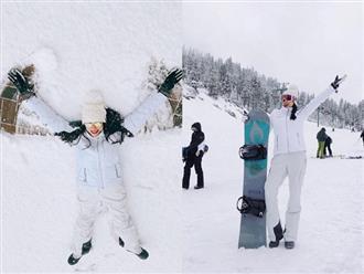 Đăng ảnh 'đắm mình' trong tuyết lạnh ở Mỹ, Hoa hậu Phạm Hương được fan nhắc nhở điều này