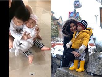 Đăng clip con trai Thiên Từ bế em cực thuần thục, fan giục ngay vợ chồng Đan Trường sinh thêm
