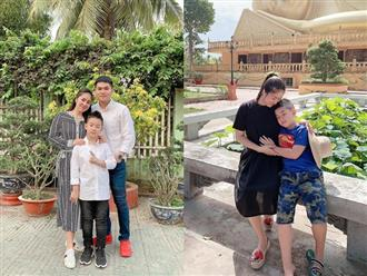 Đang mang thai, Lê Phương hạnh phúc khi được con trai quan tâm từ 'miếng ăn giấc ngủ'