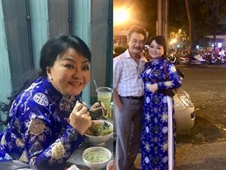 Dạo phố đêm cùng chồng, danh ca Hương Lan khiến người hâm mộ choáng vì nhan sắc