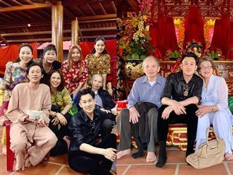 Đến nhà thờ Tổ 100 tỷ thăm con trai dịp cận Tết, bố mẹ Hoài Linh được khen ngợi hết lời