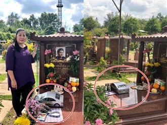 Đến thăm mộ Anh Vũ, Hồng Vân gửi tặng 'xe hơi 4 chỗ', tiết lộ về di nguyện cuối của đàn em quá cố