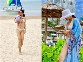 Lâu lắm mới diện bikini gợi cảm, mẹ hai con Thân Thúy Hà khiến fan bấn loạn, Tăng Thanh Hà cũng phải kinh ngạc