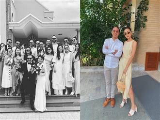 Diện đồ đẹp đi đám cưới, chồng Tăng Thanh Hà được khen 'yêu' hơn vợ