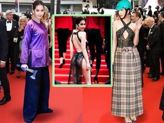 Diện váy hở bạo, Ngọc Trinh bị chế ảnh cực hài, được 'tặng' đủ loại quần áo để che thân