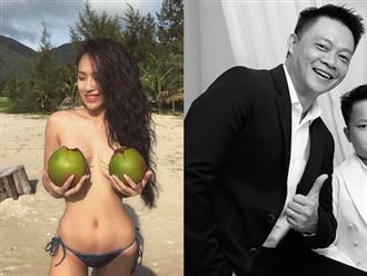 DJ Tít dùng 2 trái dừa che ngực hớ hênh, BTV Quang Minh phản ứng cực 'bá đạo'