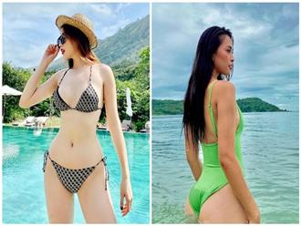 Đọ body của Kỳ Duyên – Tiểu Vy: Hai nàng Hậu thích diện bikini nhất showbiz Việt