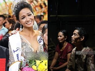 """Độc quyền từ nhà bố mẹ Hoa hậu Hoàn vũ H'Hen Niê: """"Thấy con gái khóc, tôi cũng khóc dù không biết con đoạt giải gì"""""""