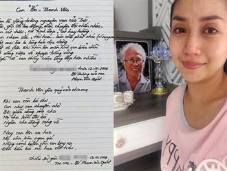 Ốc Thanh Vân khóc như mưa khi tìm được lá thư tay của bố ruột đã mất, đọc mà nghẹn lòng