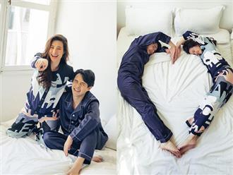 Đông Nhi và Ông Cao Thắng tung bộ ảnh bầu lãng mạn trên giường, ai nhìn cũng mê