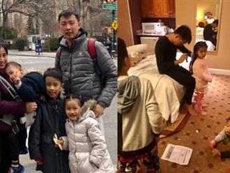 """Đưa cả 3 con đi du lịch, Ốc Thanh Vân tiết lộ cảnh tượng """"thê lương"""" tại khách sạn khiến nhiều ông bố bà mẹ đồng cảm"""