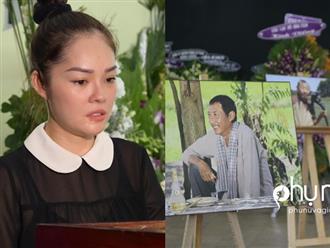 Viếng 'tía' Lê Bình, Dương Cẩm Lynh nấc nghẹn khi nhìn mặt ông lần cuối