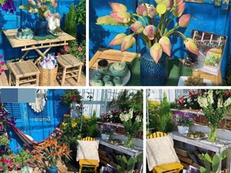 """""""Ghen tị"""" với góc chill rộng thoáng 40m² trên sân thượng tràn ngập hồng ngoại của mẹ đảm tại Nha Trang"""