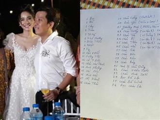 Hot: Lộ một phần danh sách khách mời trong lễ cưới Trường Giang - Nhã Phương, ai cũng sốc vì điểm này