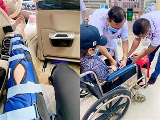Kiện tụng giành quyền nuôi con chưa xong, Nhật Kim Anh bị ngã rách dây chằng phải ngồi xe lăn, sao Việt lo lắng hỏi thăm