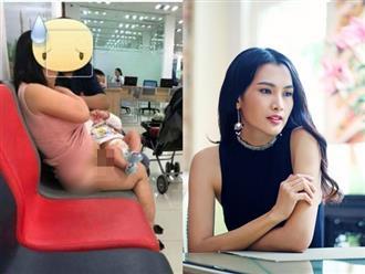 Hà Anh, Anh Thư phản đối hành động vén váy kém ý tứ khi cho con bú ở nơi công cộng